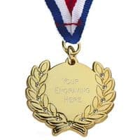 Diamond Bling Medal with Ribbon</br>AM1100.01