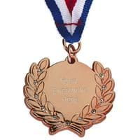 Diamond Bling Medal with Ribbon</br>AM1100.26