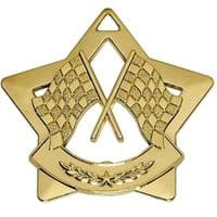 Mini Star Crossed Flags Medal</br>AM726G