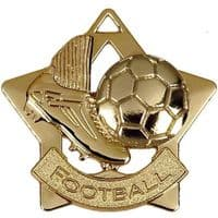 Mini Star Football Medal</br>AM715G