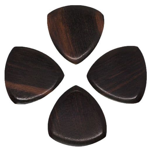 Gypsy Tones African Ebony 4 Guitar Picks