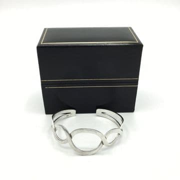 Boxed Sterling Silver Cuff Bangle Bracelet