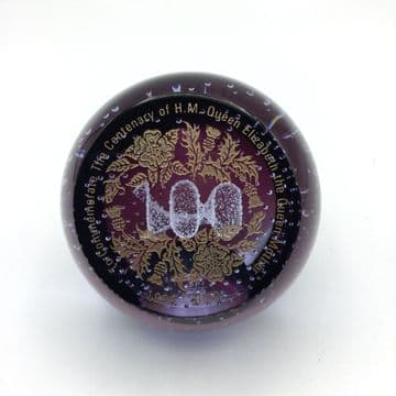 Caithness Glass Limited Edition Commemorative Paperweight