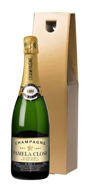 Authentic Star Champagne in a Gold Gift Box
