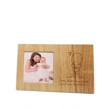 Chilli and Bubbles Mother's Day wooden panel photo frame
