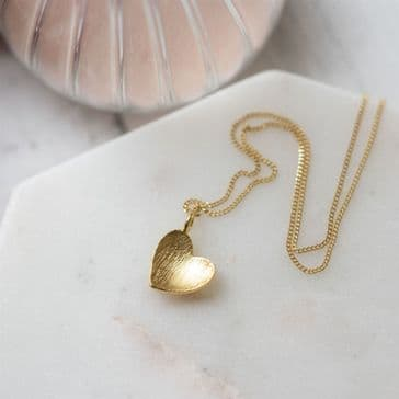 Cupped Heart Pendant Necklace