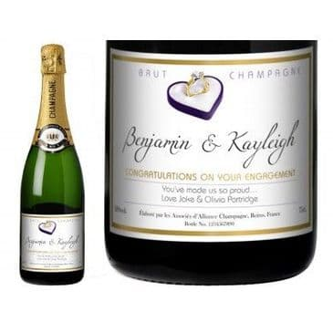 Engagement Ring Personalised Champagne