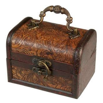 Med/large Colonial Box - Floral Embossed