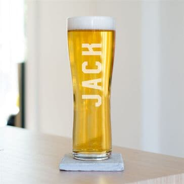 Name Tall Beer Glass