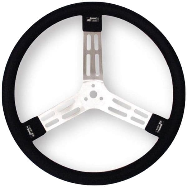 Longacre Aluminum Steering Wheel - w/ natural spokes and smooth grip