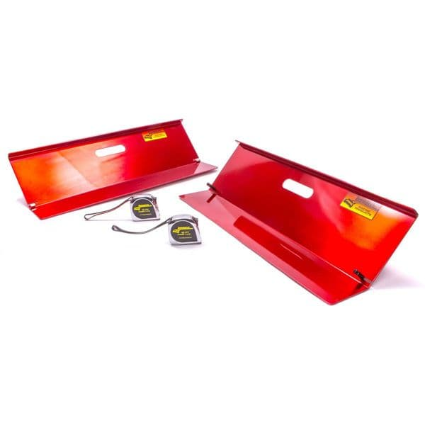 Longacre Toe-In Plates, Deluxe, 2 Plates / Tape Magnets, 2 Tape Measures, Aluminum, Natural, Kit