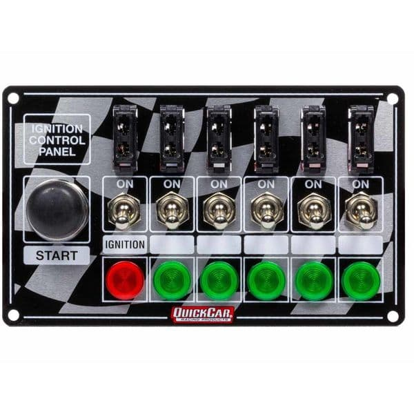 QuickCar Ignition Panel Fused W/Start Button & Lights