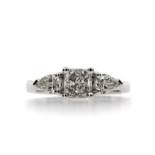 Diamond Radiant & Pear Ring
