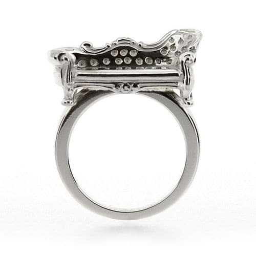 Silver Chaise Ring