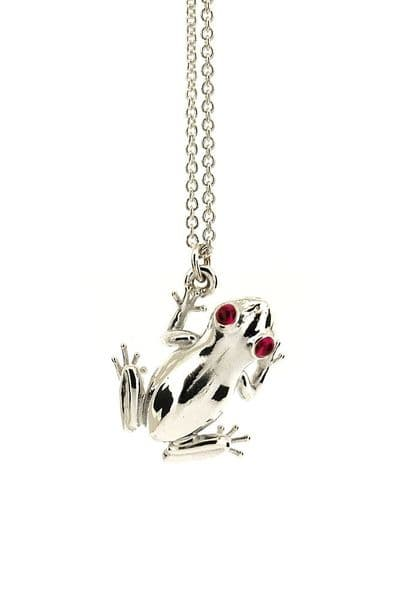 Silver Frog Necklace
