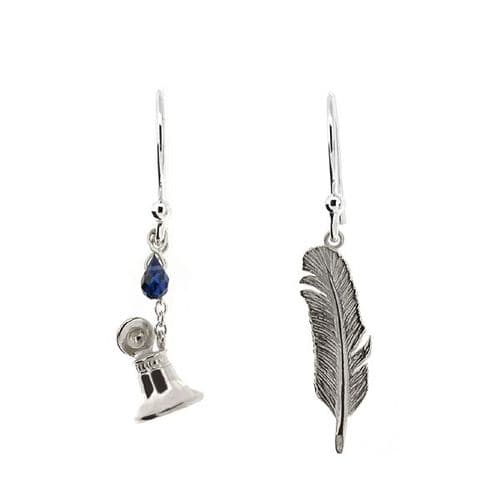 Silver Quill & Ink Earrings