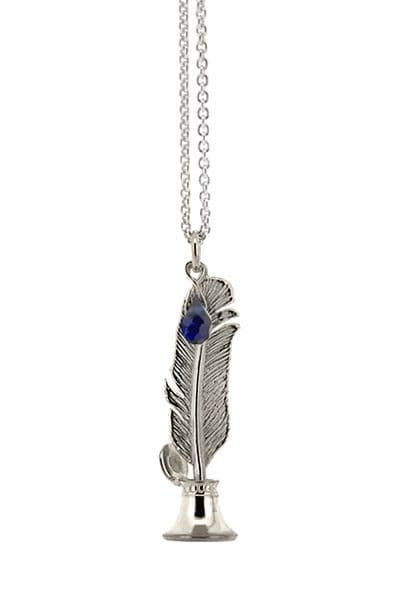 Silver Quill & Ink Necklace