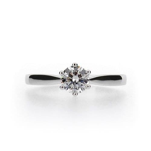 Swiss Wire Six Claw Diamond Ring