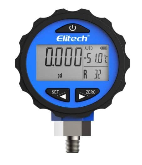 Digital Pressure Gauge for 87+ Refrigerants with Backlight 0-500 PSI 1/8 NP PG30