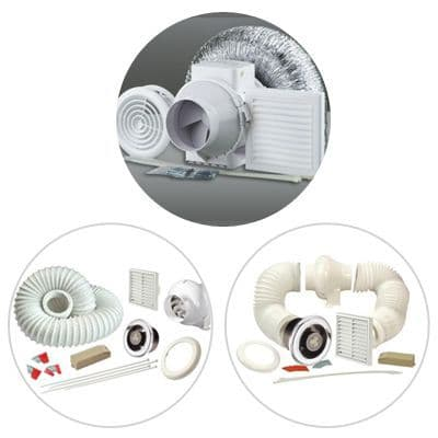 Bathroom Extractor Inline Fan Kit