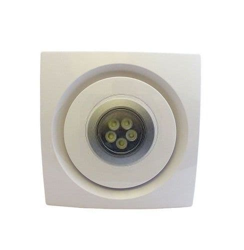 Bathroom Kitchen Ceiling Extractor Fan with LED Light 100mm 4