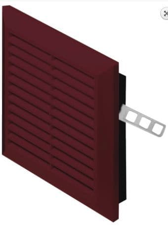 Brown Air Vent Plastic Grill Ventilation Ducting