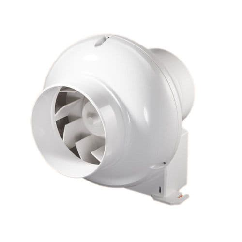 Centrifugal Inline Duct Extractor Fan With Timer 100mm/4""