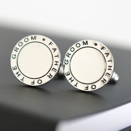 Father Of The Groom Round Cufflinks