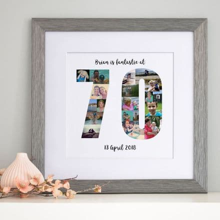 Personalised 70th Birthday Photo Collage