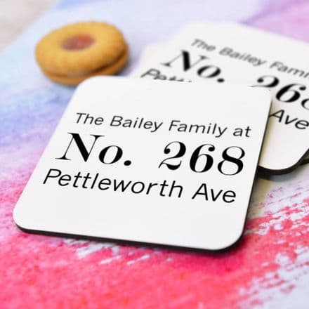 Personalised 'Address' Coasters