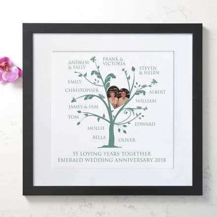 Personalised Emerald Anniversary Photo Family Tree