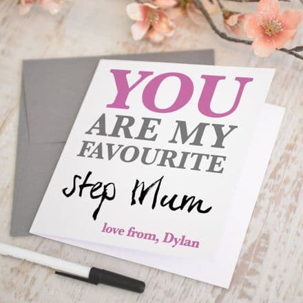 Personalised 'Favourite Step Mum' Card