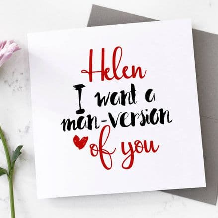 Personalised Gal Pal Valentine's Card