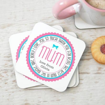 Personalised Mum Coaster Set