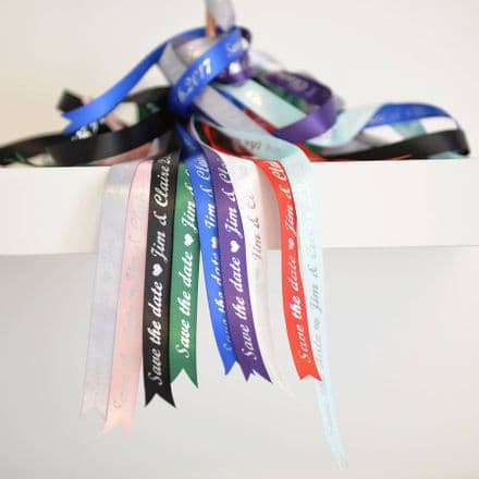 Personalised 'Save The Date' Ribbon