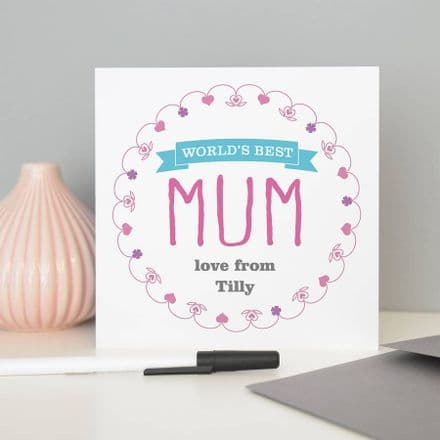 Personalised 'World's Best Mum' Card