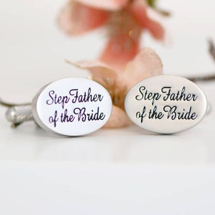 Step Father Of The Bride Cufflinks