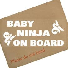 1 x  Baby Ninja On Board-Car Window Sticker-Fun Child,Kids,Children,Vehicle,Van