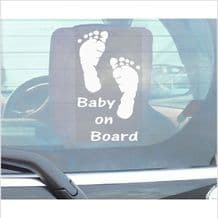 1 x Baby On Board-Car Window Sticker-Fun Child,Kids,Children, Self Adhesive Vinyl Sign for Truck,Van,Vehicle