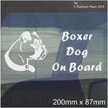 1 x Boxer Dog On Board Sticker-Car,Van-Window Sign