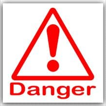 1 x Danger Symbol with Text-Red on White,External Self Adhesive Warning Stickers-Health and Safety Sign