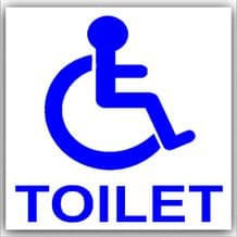 1 x Disabled Toilet Sticker-Disability Sign-Car,Van,Truck,Vehicle,Mobility-Self Adhesive Vinyl