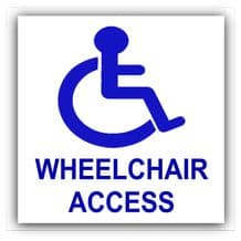 1 x Disabled Wheelchair Access Sticker-Disability Sign-Wheelchair,Toilet,Self Adhesive Vinyl