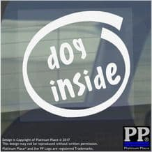1 x Dog Inside-Window,Car,Van,Sticker,Sign,Vehicle,Adhesive,Puppy,Animal,Fluffy