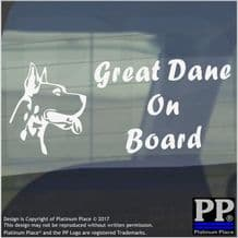 1 x Great Dane Dog On Board Sticker-Car,Van,Truck,Animal,Pet-Window Sign