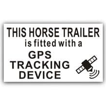 1 x Horse Trailer GPS Tracker Warning Sticker-Horsebox,Lorry,Transport,Tracking Device Security Sign