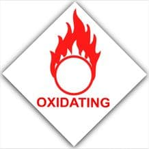 1 x Oxidating-Red on White,External Self Adhesive Warning Stickers-Health and Safety Sign,Oxidising,Oxidating,Oxygen