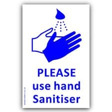 1 x Please use Hand Sanitiser Sticker Medical Hospital,Health Safety Virus Sign Coronavirus