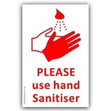 1 x Please use Hand Sanitiser Sticker RED Medical Hospital,Health Safety Virus Sign Coronavirus