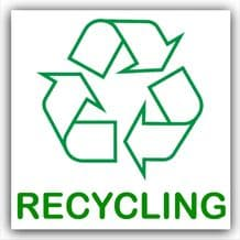 1 x Recycling Text Self Adhesive Bin Sticker-Recycle Logo Sign-Environment Label